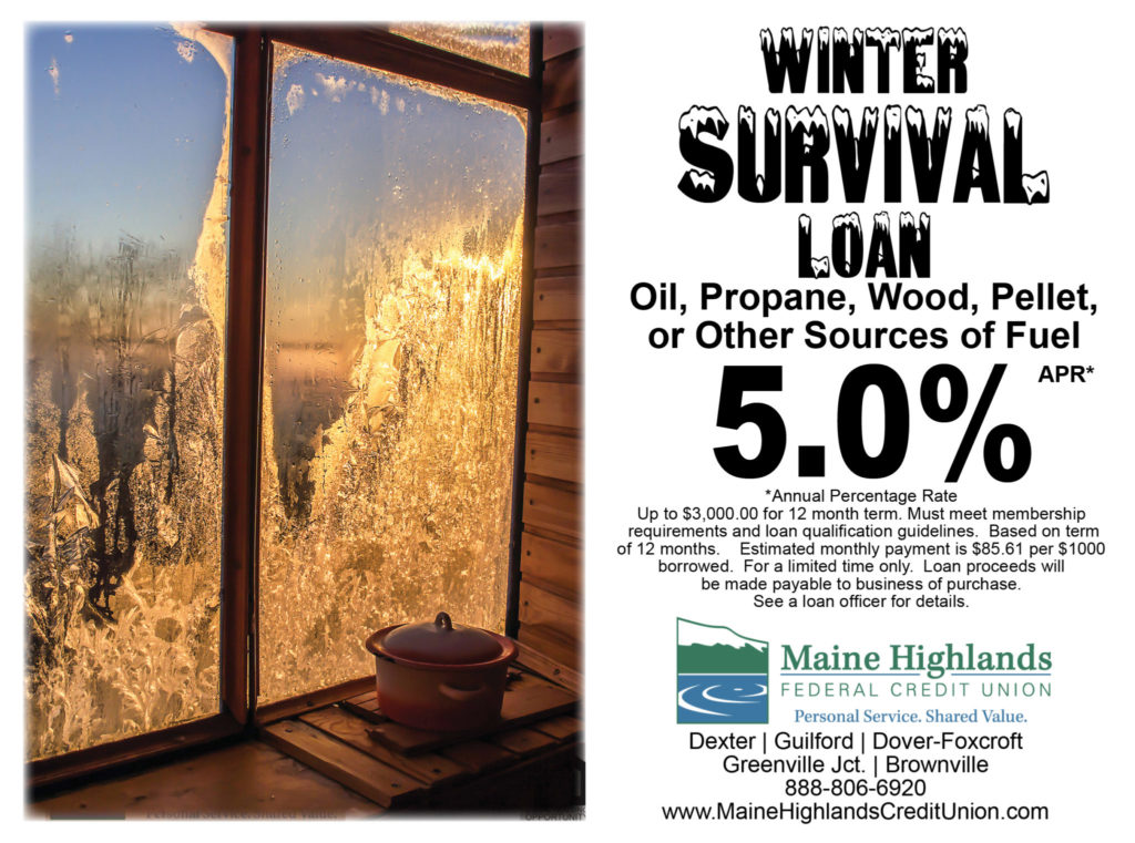 Winter Survival Loan ad